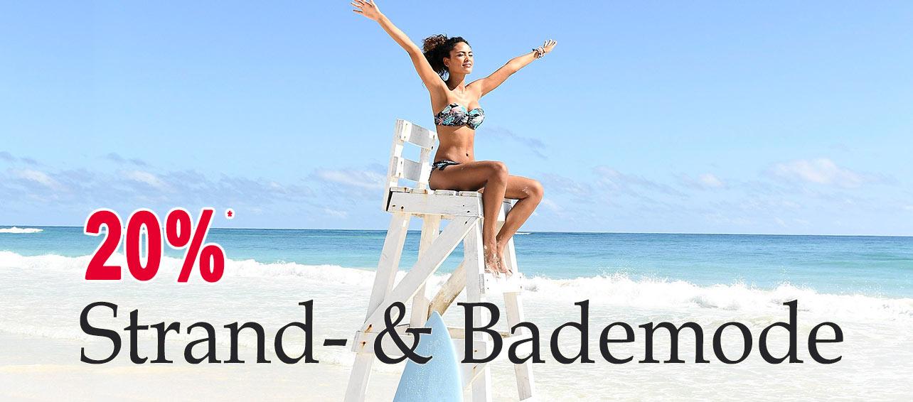20% auf Bikinis, Einteiler, Tankinis, Mixkinis, Strandbekleidung