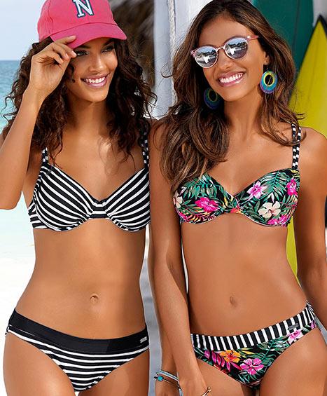 Bikinis, Einteiler, Tankinis, Mixkinis, Strandbekleidung