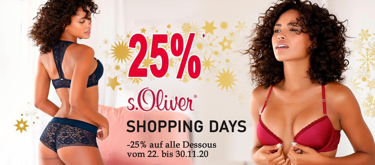 25% Rabatt auf s.Oliver Dessous