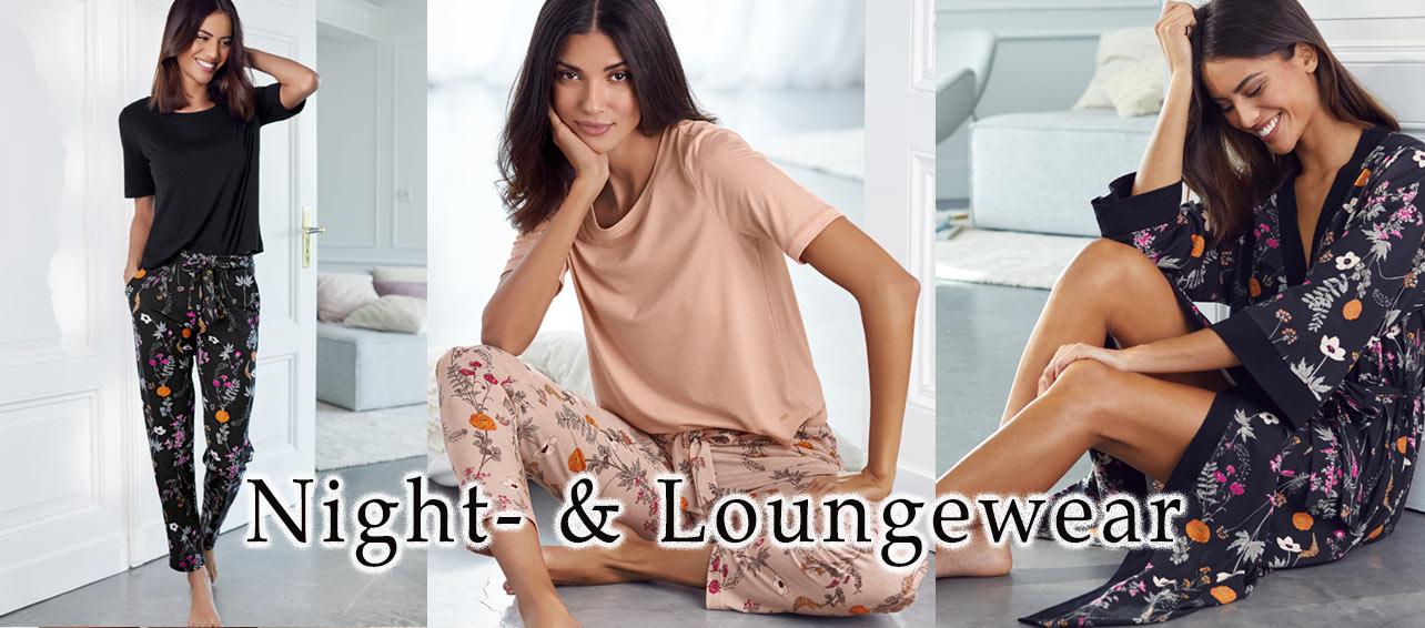 Pyjamas, Negligés, Nachtwäsche
