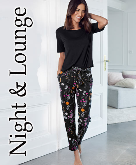 Pyjamas, Nachthemden, Negligés, Nachtwäsche, Homewear