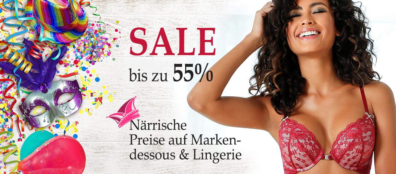 Närrische Preise! Marken-Dessous und Lingerie im SALE