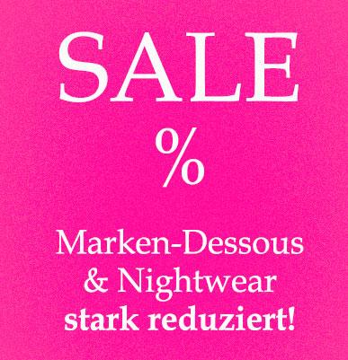 SALE: Marken-Dessous & Nightwear stark reduziert!